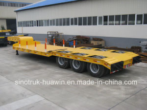 Sinotruk 3 Axle Semi Trailer Low Bed pictures & photos