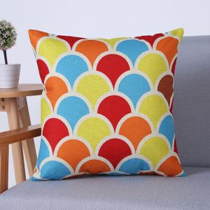 Digital Print Decorative Cushion/Pillow with Geometric Pattern (MX-79) pictures & photos