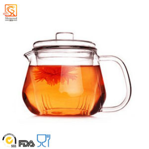 100% Hand Blown Chinese Glass Tea Pot pictures & photos