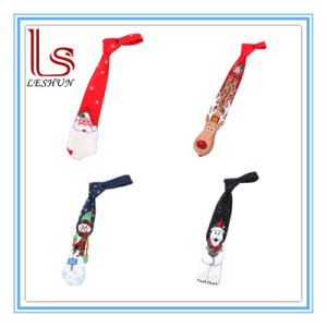 Customized Christmas and Holiday Printed Polyester Silk Tie pictures & photos