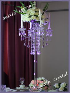 Chic Crystal Candelabra and Flower Stand for Wedding