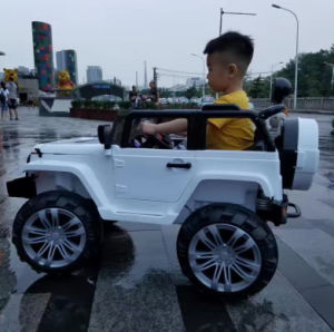 010c6e9ccf53 12V Battery Toy Jeep Kids Ride on Police-Car 2 Seater Children Electric  Cars for