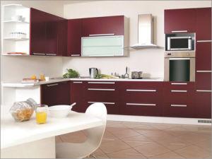 Red Wine Modular Kitchen Furniture