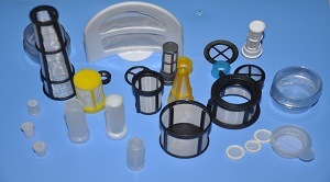 Insert-Molded Plastic Filters and Screen for Liquid Filtration