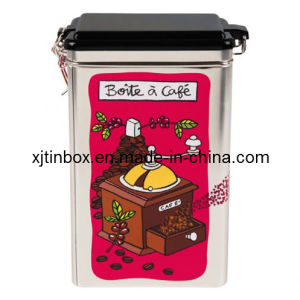 Rectangle Airtight Metal Box for Tea and Coffee, Gift Box, Gift Case (XJ-005F)