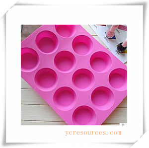16 Cavity Oval Silicone Mold for Soap, Cake, Cupcake, Brownieand More (HA36019) pictures & photos