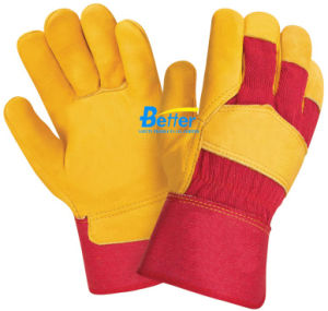 Golden Cow Grain Leather Driver Work Glove (BGCL103G)