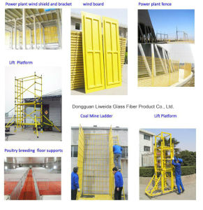 FRP Pultruded Profiles Stents Staircase/Handrail/Fence/Ladder/Grating Profiles