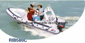 5.8meter 19ft 12 Persons Rigid Hull Inflatable Boat Rib 580 C with CE (RIB580C)