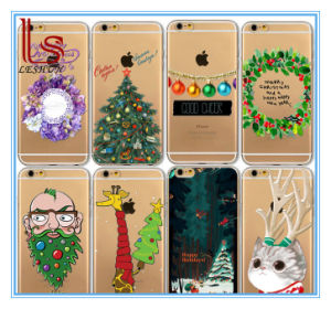 Christmas Decoration Gift Wholesale Custom iPhone6s iPhone6 Thin TPU Coloured Drawing iPhone7 Plus Phone Case pictures & photos