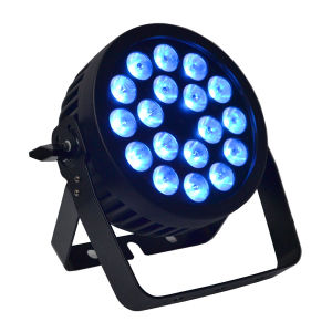 Slim Professional Parcan with RGBW 4-in-1 LED and Powercon for Disco, Event, Club, Stage Lighting