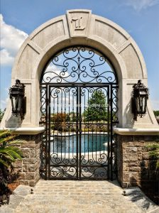 Classic Round Top Wtought Iron Door pictures & photos