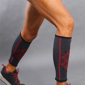 Sports Elastic Breathable Protect Gear Shin Calf Support Sleeve