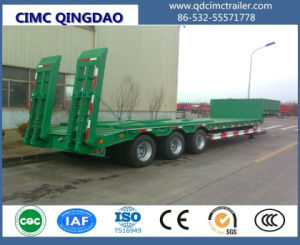3-4 Axles 50-80 Tons Flat Low Bed Semi Truck Trailer pictures & photos