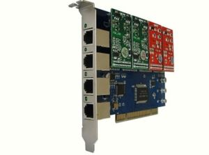 Compatible Asterisk Fxo/ Fxs PCI Card with 4 Ports (400P) pictures & photos