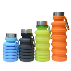 China Factory Hot Selling Private Label Outdoor Gift Non-Toxic Sports Soft Squeezable Collapsible Silicone Bottle