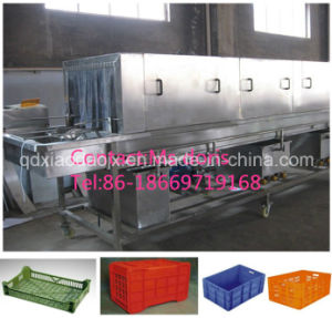 Automatic Steam Heating Plastic Crate Washing Machine pictures & photos