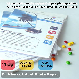 260GSM Desktop RC Glossy Photo Paper (RC260)
