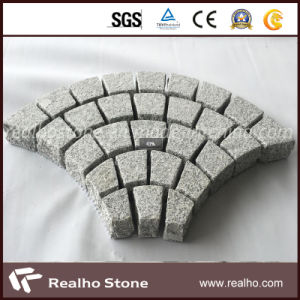 Fan Shaped Natural Granite Driveway Pavers Tile for Outdoor Stones