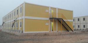 Two Storey Prefab Office Container Building pictures & photos