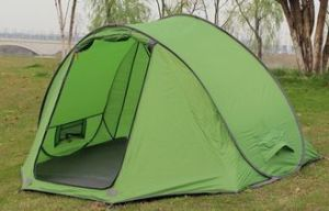 a Single Layers Instant Pop-up Tent or Instant Tent for Camping.