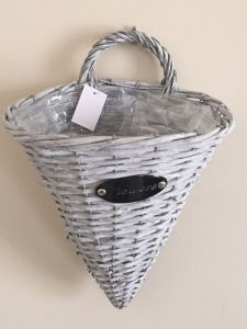 Wicker Basket Cone Planter Medium