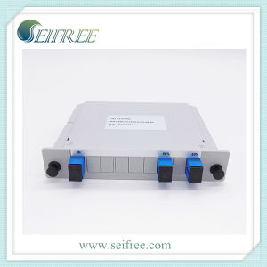 PLC Splitter with Blue Sc/Upc Fiber Optic Connectors and Adapters pictures & photos