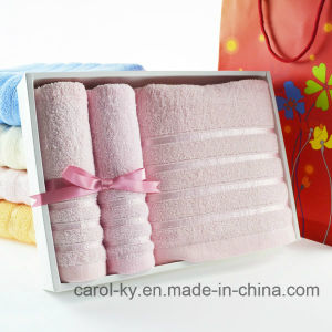 Cotton Gift Set Dobby Border Towel pictures & photos