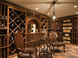 Customized High End Wooden Wine Cellar for Home Furniture