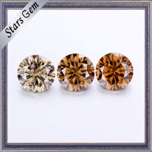 Colorful Champagne Color 1carat Moissanite Stone pictures & photos