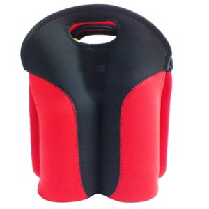 Three Bottle Neoprene Wine Bottle Sleeve Holder Cooler pictures & photos