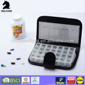 Hot Selling Cost-Effective More Functional Pill Box with PU Bag