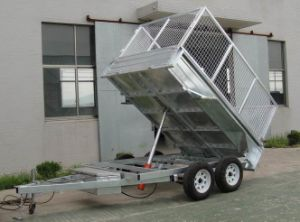 Galvanized Cargo Full Trailer Checker Plate pictures & photos