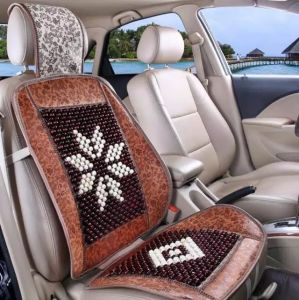 Wooden Bead Car Seat Cushion Cooling Universal