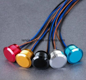 Langir 12mm Concave Aluminum Momentary Piezo Switch (PZ-A12) pictures & photos