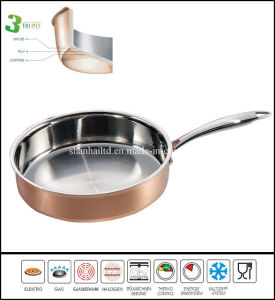 2015 Stainless Steel Copper Pan pictures & photos