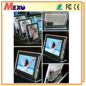 Magnetic Open Change Picture Acrylic Photo Frame LED Light Box pictures & photos