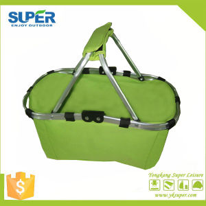 Double Handle Portable Storage Shopping Basket (SP-305) pictures & photos