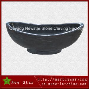 High Polished Black Marble Freestanding Bathtub for SPA Ns-Y701 pictures & photos