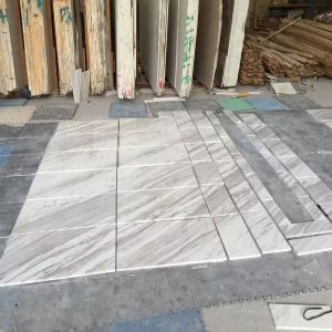 Volakas White Marble Floors and Walls Panels