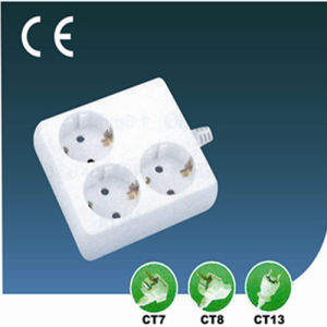 Three Ways European Extension Socket
