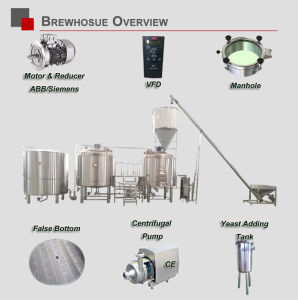 Micro Beer Brewery Equipment 15bbl Craft Beer Brewing Bar Equipment for Sale