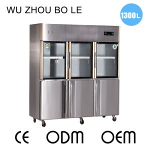 2016 New Products Double Temperature Six Doors Refrigerator for Kitchen