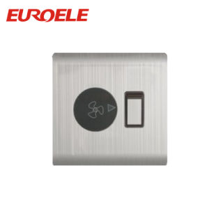 86*86mm 10A Stainless Steel Fan Light Dimmer Switch pictures & photos
