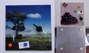 Dry Erase Glass Photo Board with Magnetic Function