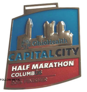 Half Marathon Medal with Transparent Color for Capital City Chiohealth