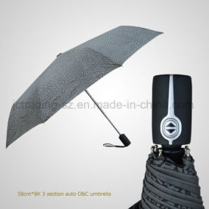 3 Folding Automatic Open&Close Windproof Rain/Sun Umbrella (JF-AQT302)
