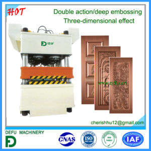 Double Action Press Machine with Deep Embossing pictures & photos