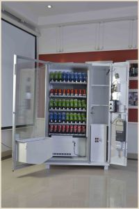 Soft Drinks Energy Drinks Vending Machine with Coin Mesh pictures & photos