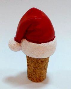 Santa′s Hat Bottle Stopper for Christmas Decoration pictures & photos